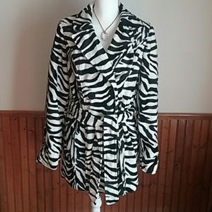 Heart  Soul Zebra Print Lined Jacket size XL